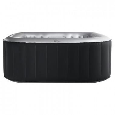 Piscina idromassaggio gonfiabile da esterno quadrata 6 posti 185x185 cm