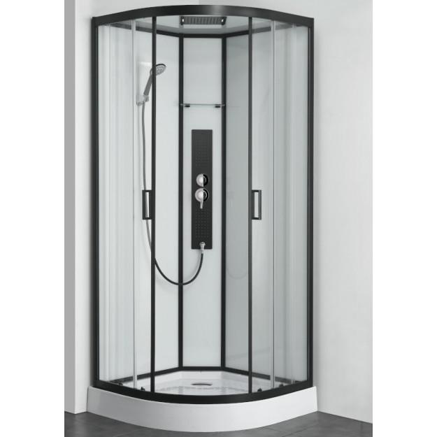 Box doccia idromassaggio semicircolare 90x90 mod 2019