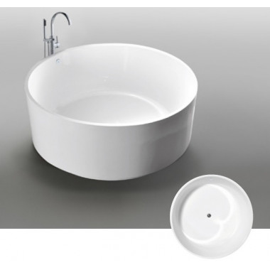 Vasca da bagno freestanding circolare Idra2 Diametro 138 cm
