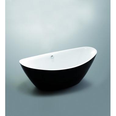 Vasca da bagno freestanding Cassiopea BLACK 180x87 cm