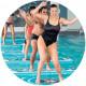 Tappeto galleggiante per esercizi in piscina