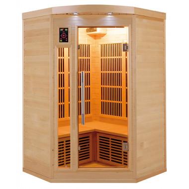 Sauna infrarossi a pannelli di carbonio per 2/3 persone cromoterapia ad angolo