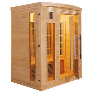 Sauna infrarossi a pannelli di carbonio per 3 persone cromoterapia