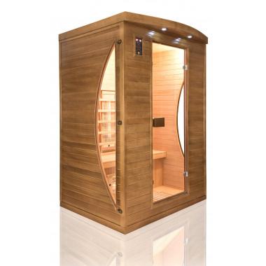 Sauna infrarossi FULL SPECTRUM radiatori al magnesio per 2 persone cromoterapia