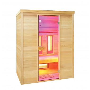 Sauna infrarossi MULTIWAVE  per 3 persone cedro canadese