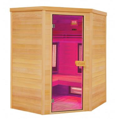 Sauna infrarossi MULTIWAVE  per 3-4 persone cedro canadese ad angolo