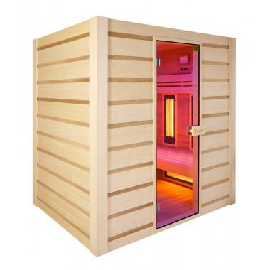Sauna finlandese ed infrarossi combinata in cedro