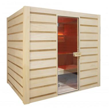 Sauna finlandese in cedro e abachi 175x200 cm 6 persone