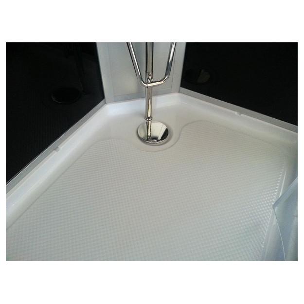 Box doccia idromassaggio semicircolare 100x100 ebay for Piatto doccia antiscivolo