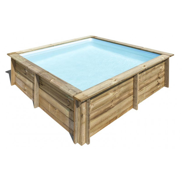 Piscina quadrata il legno 225x225xh68 cm