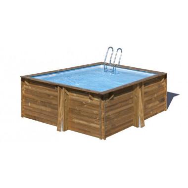 Piscina quadrata il legno 305x305xh119cm