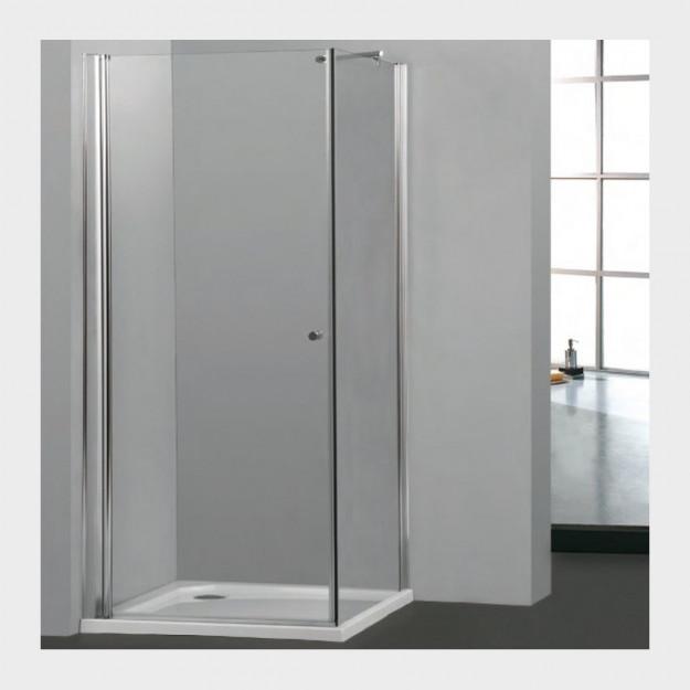 Cabina doccia con anta battente ed una fissa vetro - Box doccia un anta ...