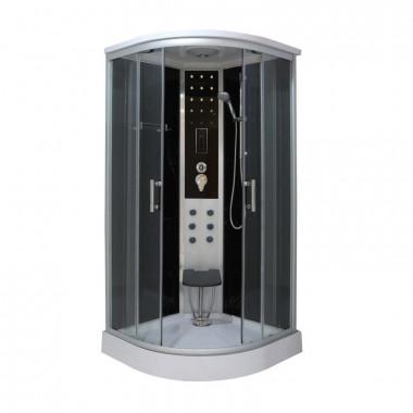 Box doccia idromassaggio circolare 90x90 cm con  vapore