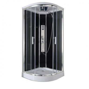 Box doccia idromassaggio semicircolare 90x90