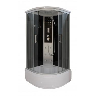 Box doccia idromassaggio circolare 90x90 con piatto alto