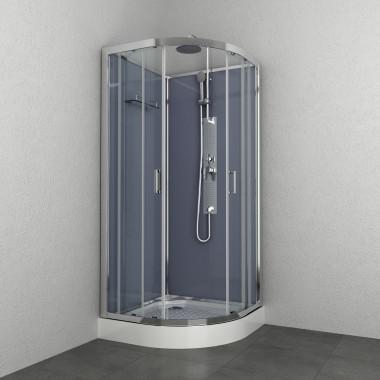 Box doccia idromassaggio circolare 90x90 grigio