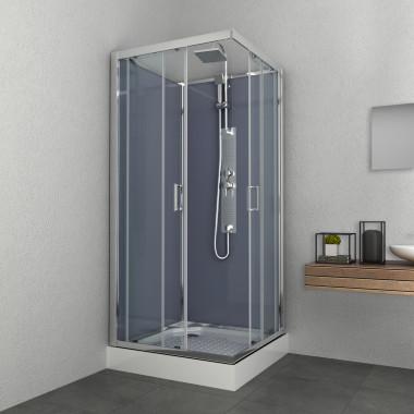 Box doccia idromassaggio quadrato 90x90 grigio