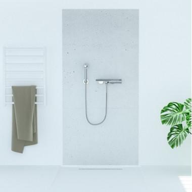 Pannello copriparete per doccia effetto cemento