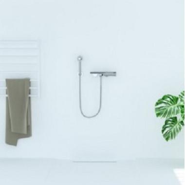 Pannello copriparete per doccia bianco
