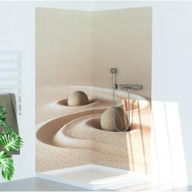 Pannello copriparete per doccia tema deserto