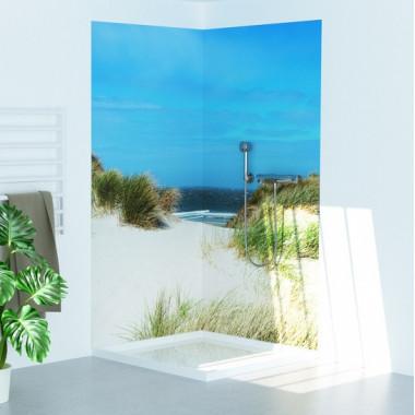 Pannello copriparete per doccia tema spiaggia