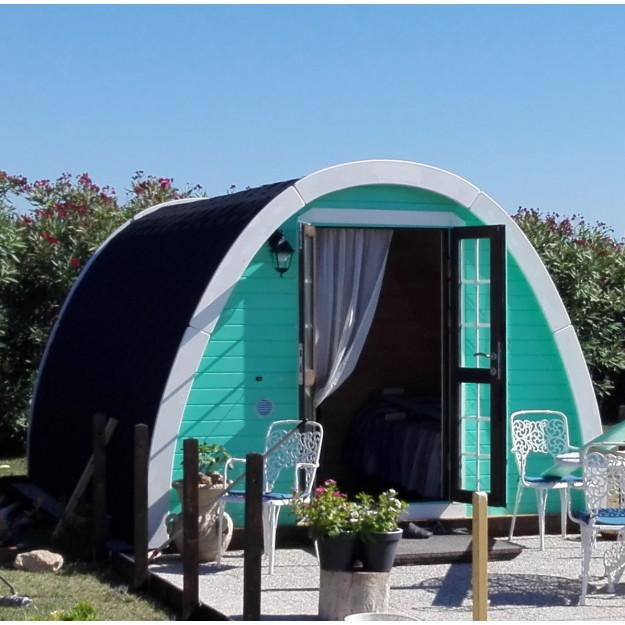 Gazebo in legno casetta bungalow isolato da giardino a iglu 13 mq 4,8x3m
