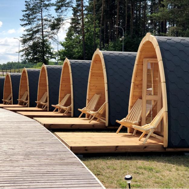 Gazebo in legno casetta bungalow isolato da giardino a iglu 11,5 mq 4,8x2,4m