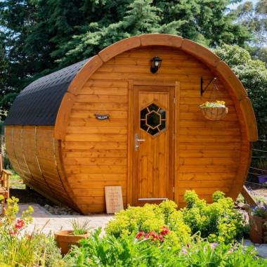 Gazebo in legno casetta da giardino  bungalow 4,8x3m modello ICE