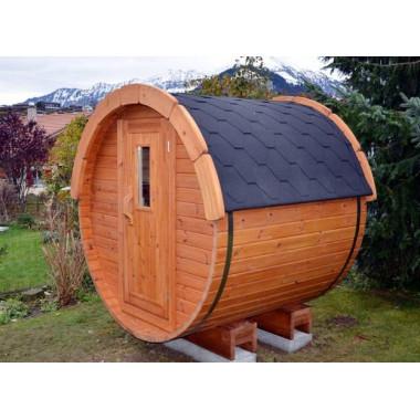 Mini sauna finlandese a botte da esterno Ø 1.9m x 1.7m