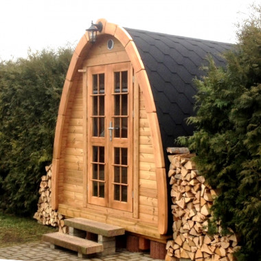 Sauna Pod finlandese ad igloo fino a 4 persone da esterno con spogliatoio