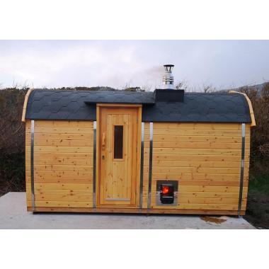 Sauna BUS finlandese da esterno da 3,5 a 5,9 m