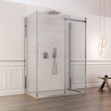 Box doccia in vetro 8 mm 3 lati vetro scorrevole anticalcare