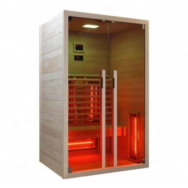 Sauna infrarossi radiatori alogeni 2 persone cromoterapia stereo