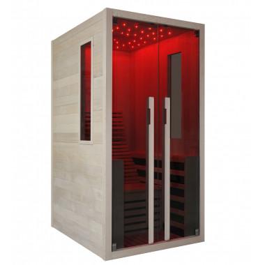 Sauna infrarossi a pannelli di carbonio con sdraio e cielo stellato 1 posto