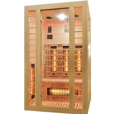 Sauna infrarossi FULL SPECTRUM per 2 persone cromoterapia color legno