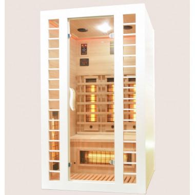 Sauna infrarossi FULL SPECTRUM per 2 persone cromoterapia color bianco