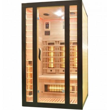 Sauna infrarossi FULL SPECTRUM per 2 persone cromoterapia color nero