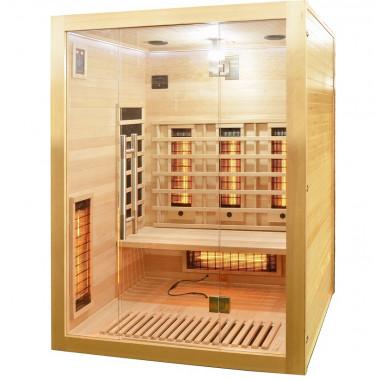 Sauna infrarossi FULL SPECTRUM per 3 persone cromoterapia frontale vetrato