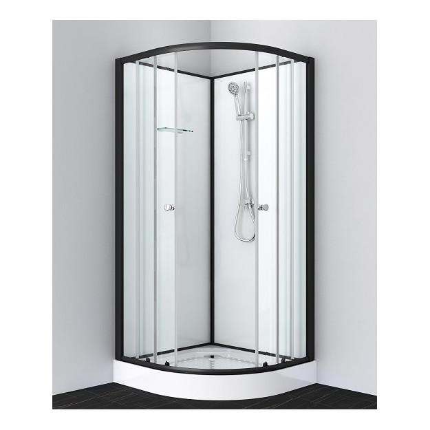 Box doccia rotondo 80x80 o 90x90 bianco-nero