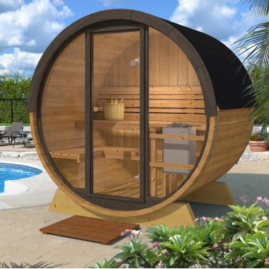 Sauna finlandese a botte da esterno diam 2 x 1,6 m