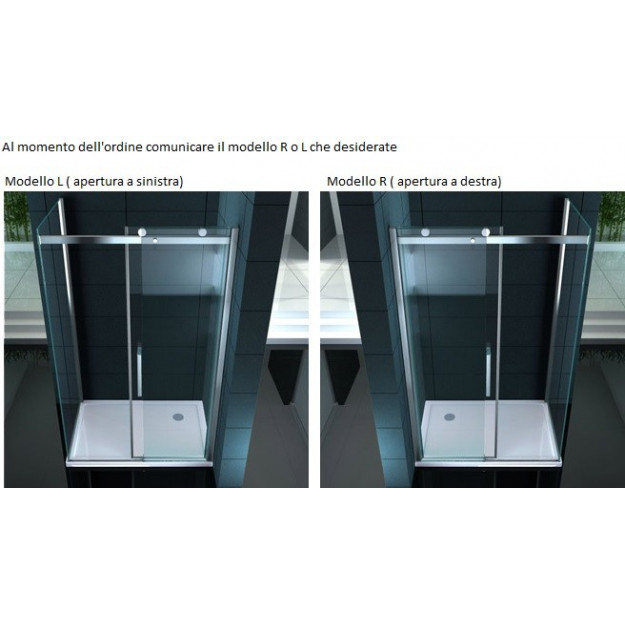 Box doccia in vetro 8 mm superlusso diamante for Grande cabina di lusso orso