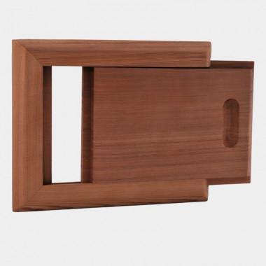 Sportello di ventilazione per sauna in cedro rosso