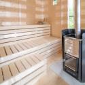 Casetta con sauna da esterno