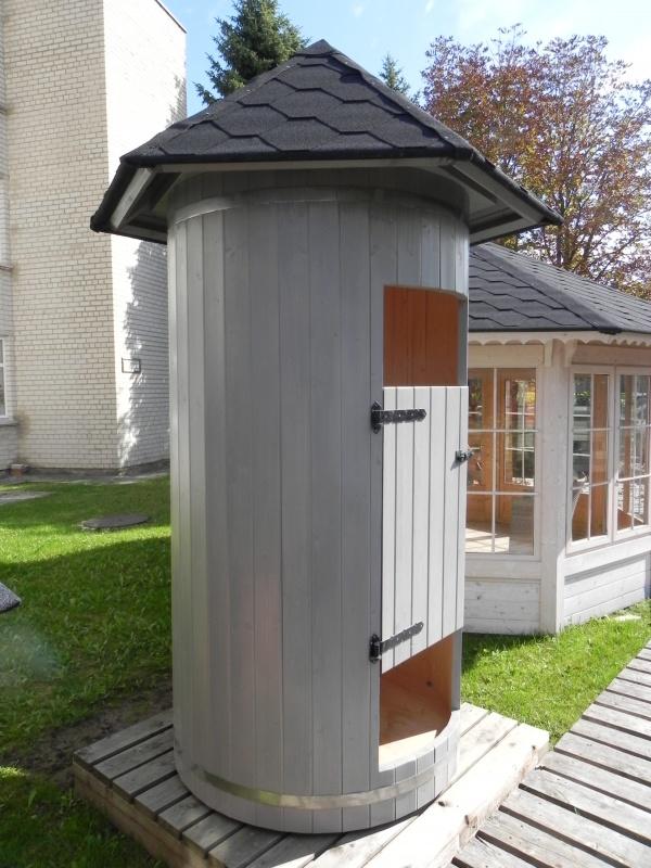 Cabina box doccia da esterno giardino in legno massiccio - Cabina doccia da giardino ...