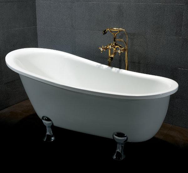 Vasca da bagno con piedini 165 x 80 cm modello classico - Vasca da bagno altezza ...