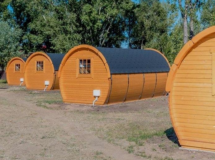 casetta in legno perfetta per campegg