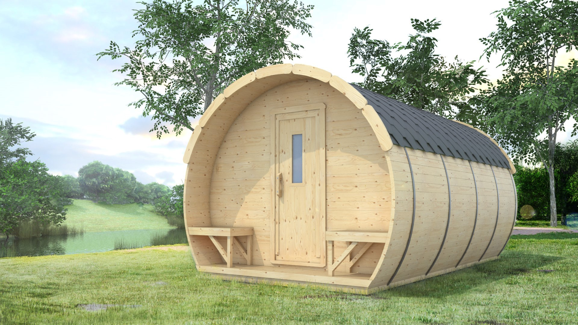 casetta in legno perfetta per campeggi