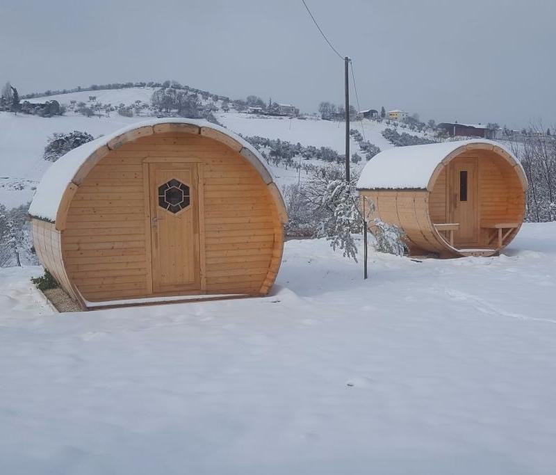 esempio di abbinamento con sauna a botte