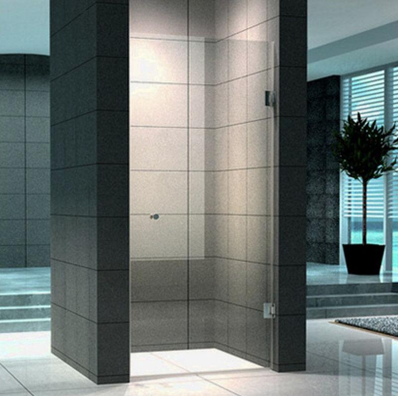 Porta battente per nicchia in vetro 8 mm super lusso - Porte in vetro per bagno ...