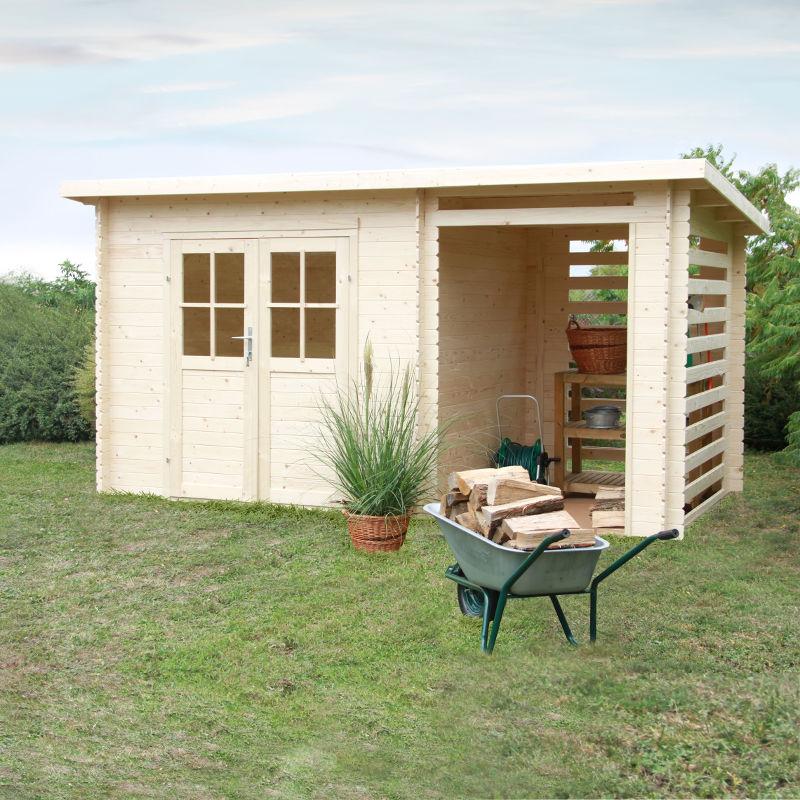 Casetta da giardino in legno di abete erika m for Casette legno obi